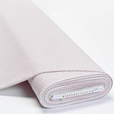 Meterware Baumwoll-Jersey - Pünktchen rot/blau Baumwoll-Jersey – Der ideale Stoff für bequeme Shirts, Kleider und Kindermode.