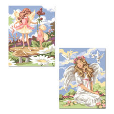 "Malen nach Zahlen Twin-Packs ""Fantasy"" Malen nach Zahlen Twin-Packs – 2 Bilder im Set"