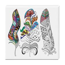 """Zen-Color™ Keilrahmen-Bild """"Federn"""" Zen-Color™ - Die Art des Entspannens."""