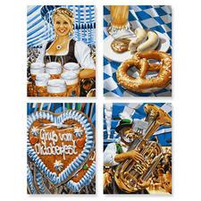 """Malen nach Zahlen Quattro """"Oktoberfest"""" Malen nach Zahlen Quattro - 4 Bilder im Set."""