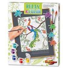 Relax & Color - Pfau Relax & Color – Die Alternative zum Ausmalbuch für Erwachsene.