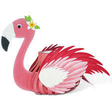 "Laternen-Bastelset ""Flamingo""."