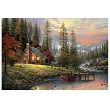 """Puzzle """"Haus in den Bergen"""" Puzzles nach Kunstwerken von Thomas Kinkade"""