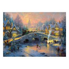 """Puzzle """"Winterliches Dorf"""" Puzzles nach Kunstwerken von Thomas Kinkade."""