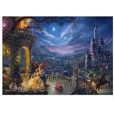 """Puzzle """"Schöne und das Biest - Tanz im Mondlicht"""" Puzzles nach Kunstwerken von Thomas Kinkade"""