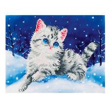 Diamond Dotz® - Kätzchen im Schnee Diamond Dotz®: Steinchen für Steinchen zum spektakulären Ergebnis.