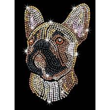 Paillettenbild für Erwachsene - Franz. Bulldogge Paillettenbilder mit eindrucksvollen Motiven