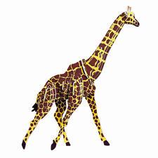 """3D Holz-Puzzle """"Giraffe"""" Gestalten mit Holz."""