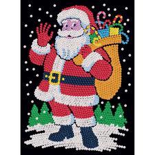 """Paillettenbild für Erwachsene """"Weihnachtsmann"""" Paillettenbilder mit eindrucksvollen Motiven"""