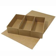 Rechteckig, aus 3 Boxen