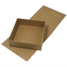 Klappdeckel-Box aus Pappmaché Perfekt zum individuellen Gestalten mit tante ema®-Stoffen.