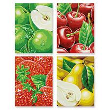"Malen nach Zahlen Quattro ""Tutti Frutti - heimische Früchte"" Malen nach Zahlen Quattro - 4 Bilder im Set."
