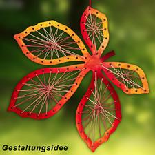 Gestaltungs-Idee, Kastanienblatt, 20 cm