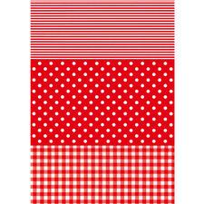 Streifen/Punkte/Karo, Rot