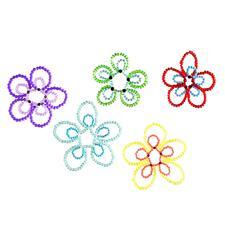 5 Blumen-Anhänger im Set Filigrane Dekorationen.