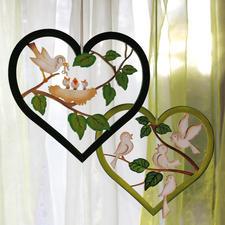 Gestaltungsideen, Herz mit Vogel und Küken und Herz mit Vögeln