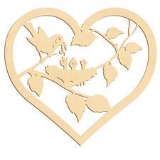 Herz mit Nest und Küken