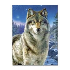 """Malen nach Zahlen """"Wolf"""", ohne Rahmen Malen nach Zahlen """"Wolf"""""""