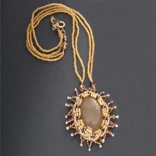 Komplettpackung Kette - Viktoria, Gold Schillernder Schmuck im viktorianischen Stil.