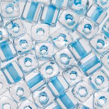 Würfel - Arktis gelüstert, Ø 3,4 mm, 15 g, Hellblau Rocailles: die Multi-Talente der kreativen Schmuckgestaltung.