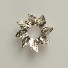 Scheibe Blüte Silber