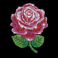 """Paillettenbild für Erwachsene """"Rote Rose"""" Paillettenbilder mit eindrucksvollen Motiven"""