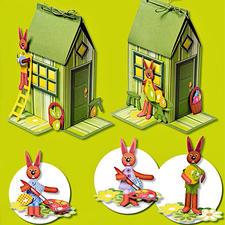 """Farbenfrohe Tischdekorationen """"Bunnys Haus"""" oder """"Osterhasen"""""""