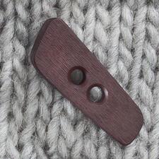 Knebelknopf aus Kunststoff, Braun, 40 mm, 1 Stück