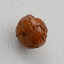 Lederknopf, Cognac, Ø 15 mm, 1 Stück