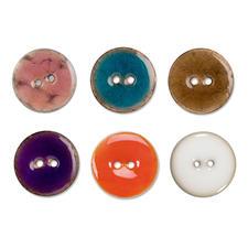 Jim Knopf Keramikeffekt-Knopf, Ø 23 mm Jim Knopf Keramikeffekt-Knopf, Kokos mit Epoxidharz, Ø 23 mm