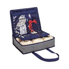 All-in-one Tasche Denim Stripes L Praktische Helfer und Ordnungssysteme für Ihre Handarbeitsprojekte