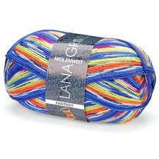 4868 Blau/Gelbgrün/Orange/Creme
