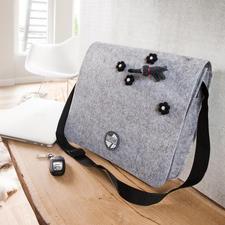 "- Postmanbag aus Filz von Lana Grossa ""Postmanbag"" aus Filz von Lana Grossa"