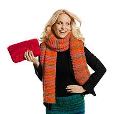 Modell 234/4, Schal aus Colorida von Junghans-Wolle