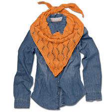 Modell 006/5, Dreiecktuch aus Angoseta von Junghans-Wolle