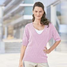 Modell 444/2, Musterpulli aus Seidana® von Junghans-Wolle