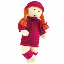 Anleitung 202/9, Puppe Jule mit Pullikleid, Stulpen, Mütze und Schal aus Poco von Junghans-Wolle