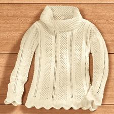 Anleitung 127/0, Damenpullover aus Merino-Cotton von Junghans-Wolle