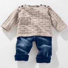 Anleitung 246/2 Babypulli aus Freizeit uni 4-fädig von Junghans-Wolle