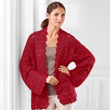 Modell 296/2, Häkeljacke bestehend auf 5 Rechtecken aus Seidana® von Junghans-Wolle