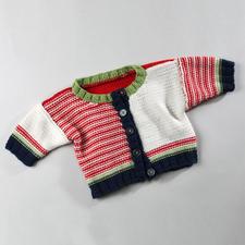 Modell 327/3, Babyjacke aus Merino-Cotton von Junghans-Wolle