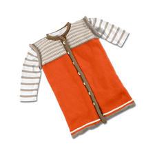 Modell 443/5, Schlafsack mit Rollrandblende aus Merino-Cotton von Junghans-Wolle Modell 443/5, Schlafsack mit Rollrandblende aus Merino-Cotton