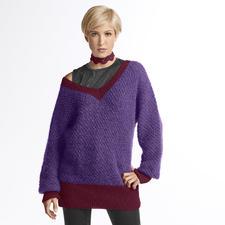 Modell 293/3, 2-fädig gestrickter Pullover mit Kragen aus Dacapo und Aerea von Junghans-Wolle