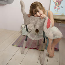 Modell 312/3, Kinderstuhlhusse und Stuhlbeinstulpen aus Aviso von phildar