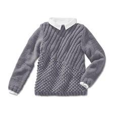 Modell 209/4, Pullover aus Merino Dick von Junghans-Wolle