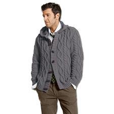 Modell 056/5, Herrenkapuzenjacke aus Merino-Classic von Junghans-Wolle