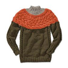 Anleitung 028/5, Pullover aus Winter-Jaspé von Junghans-Wolle