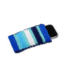 Modell 467/5, Smartphone-Hülle aus Baumwollgarn von Junghans-Wolle