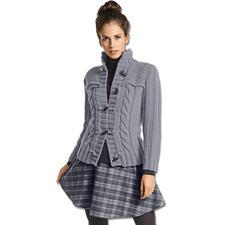 Modell 055/5, Jacke aus Merino Dick von Junghans-Wolle