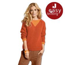 Modell 029/5, Pullover aus Winter-Jaspé und Merino-Classic von Junghans-Wolle